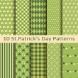 Set of ten patterns for st patrick's day — Stock Vector #64688885