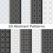 Set of ten abstract patterns — Stock Vector