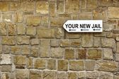 Direction Signboard  on the old stone wall — Stock Photo