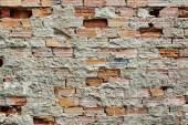 Brocken Brick Wall — Stock Photo