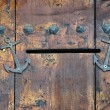Old Wooden Door with Mail Slot — Stock Photo #56832369