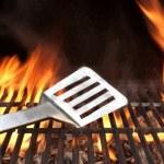 Spatula on the Barbecue Grill — Stock Photo #63024621