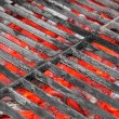 Empty Black Grill and Hot Coals — Stock Photo #63025173