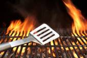 Spatula on the Barbecue Grill — Stock Photo