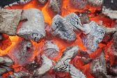 Glowing Coals in BBQ Pit — Stock Photo
