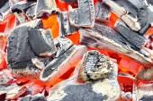 Burning Charcoal Background — Stock Photo