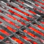 Empty Black Grill and Hot Coals — Stock Photo #65198051