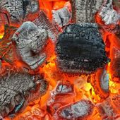 Hot Charcoal — Stock Photo