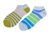 Pair of Different Sport Striped Ladies Socks — Stock Photo