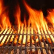 Flame Fire Empty Hot Barbecue Charcoal Grill With Glowing Coals — Stock Photo #70458789