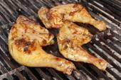 Grilled Chicken Thigh On The Flaming Grill — Stock Photo