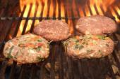 Burgers on the Grill — Stock Photo