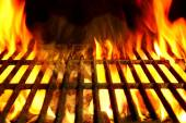 Barbecue Flaming Grill Close-up Background — Stock Photo