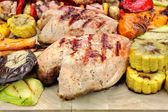 Grilled Chicken Meat And Vegetables — Stock Photo