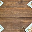 Usa New One Hundred Dollar Bills On The Wood Table — Stock Photo #70927535
