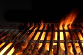 Hot Charcoal Grill With Flames Of Fire — Stock Photo