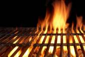 Hot Flaming Charcoal Grill — Stock Photo