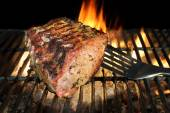 BBQ Grilled Pork Chop With Ribs On The Hot Grill. — Stock Photo