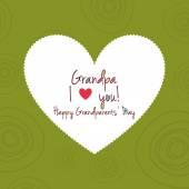 Grandparents day — Stockvector