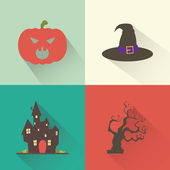 Halloween objects — Stock Vector