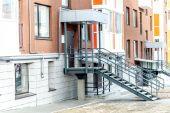 Bloco de multi-apartamento moderno — Fotografia Stock
