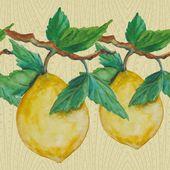 Watercolor lemons — Stock Photo