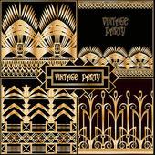 Retro posh pattern set — Stock Vector
