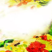 Abstraktní olejové barvy pozadí — Stock fotografie