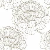 Modèle sans couture avec fleurs — Vecteur