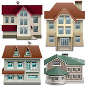 Vector House Icons — Stock Vector