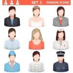 Vector Person Icons Set 2 — Stock Vector #52108887
