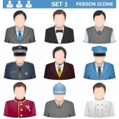 Vector Person Icons Set 1 — Stock Vector