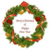 Vector Christmas Wreath — Stock Vector