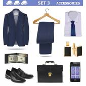 Vector Male Accessories Set 3 — Stock Vector