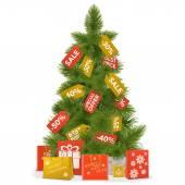 Vector Christmas Sale Concept — Cтоковый вектор