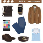 Vector Male Accessories Set 4 — Vector de stock