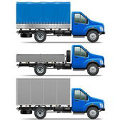 Vector Lorry Icons Set 1 — Vecteur