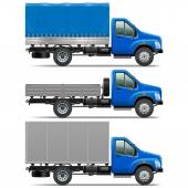Vector Lorry Icons Set 1 — 图库矢量图片