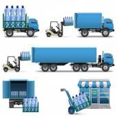 Vector Mineral Water Shipping — Stok Vektör