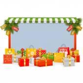 Vector Christmas Shopping Board — Stock Vector