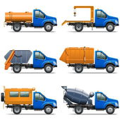 Vector Lorry Icons Set 5 — Stock Vector