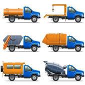 Vector Lorry Icons Set 5 — Stockvector
