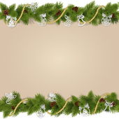 Vector Christmas Background with Decorations — Cтоковый вектор