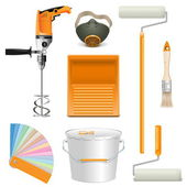 Vector Painting Tools — Stock Vector
