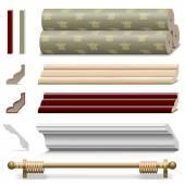 Vector Finishing Wall Materials — Stock Vector