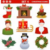 Vector Christmas Icons Set 4 — Stockvektor