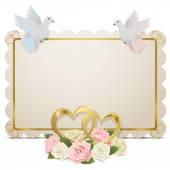 Vector Wedding Board — Stock Vector
