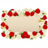 Vector Romantic Flower Board — Stock Vector