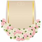 Wektor wesele kwiat karty — Wektor stockowy