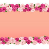 Vector Flower Frame — Stock Vector